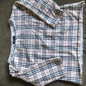 Burberry kids 3/4 length sleeve shirt